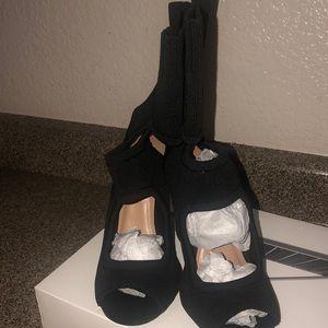 Brand new open toe booties
